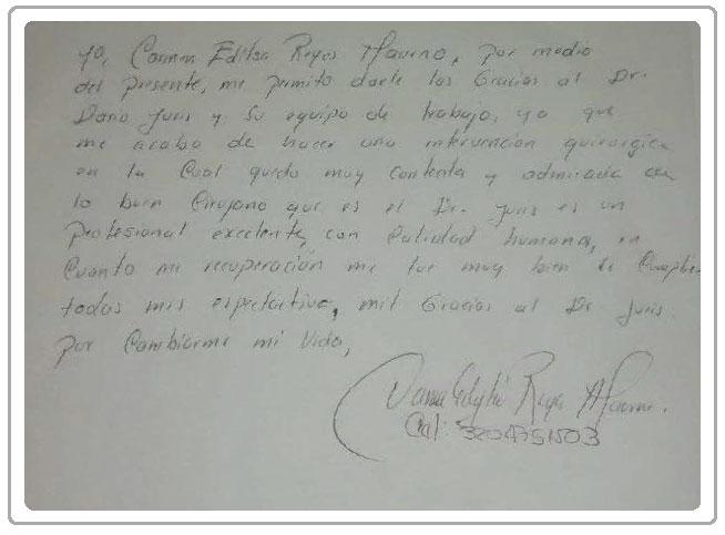 Dr Darío Juris Testimonio Carmen Edilsa Reyes